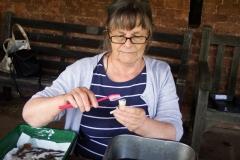 Jill Walmsley washing pots