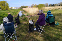 Our first outdoor painting day was on Seaward Way marshes