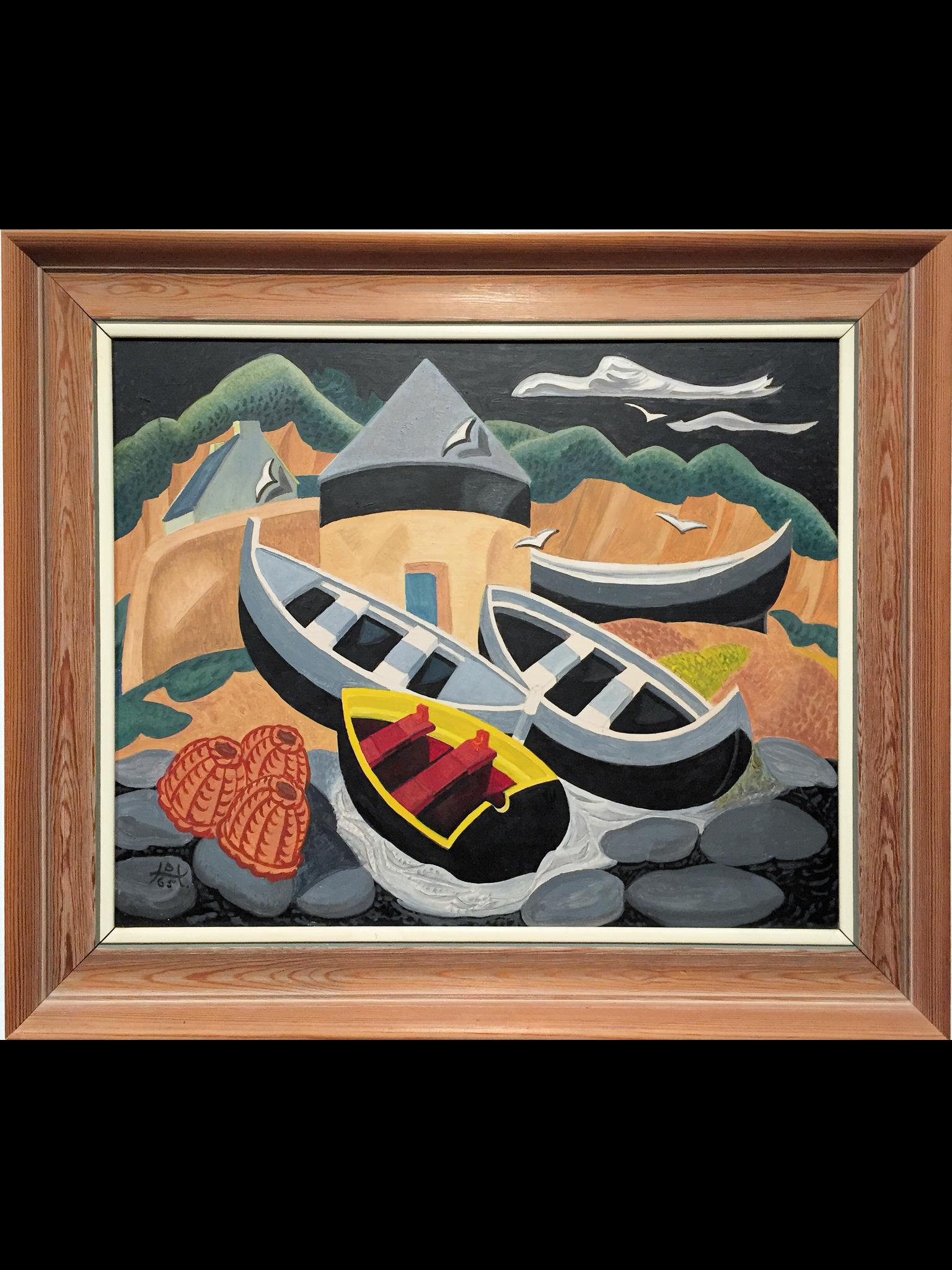 Boats at Sennen Cove by Doris Hatt