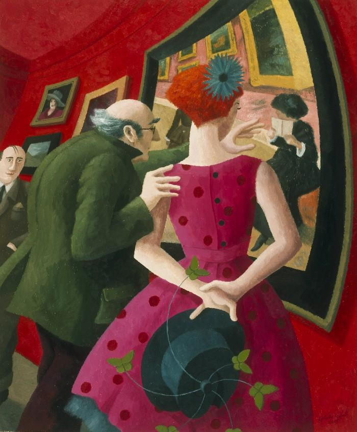 Polka dots and painting, by Ophelia Redpath